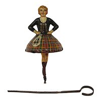 Tinplate Scottish Dancer spinning top toy Einfalt Technofix German