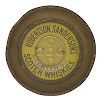 C19th Scotch Whisky Advertising Ashtray Dexterity Puzzle