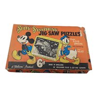 1930's Walt Disney Silly Symphony Wynken Blynken & Nod Jigsaw Puzzle