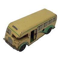1950's Wells Brimtoy Pocketoy Coach wind-up tin-plate motor coach