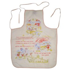 1953 Coronation Disney Donald Duck Mickey Mouse Child's apron