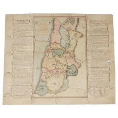 Early 1800's  Wallis's Dissected Map of  The Holy Land jigsaw puzzle