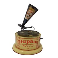 1920's German tin-plate toy Weco Olaphon gramophone Phonograph
