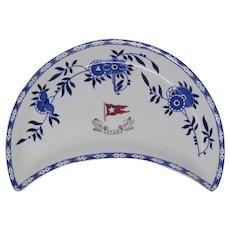 White Star Line pottery Stonier blue & white side plate