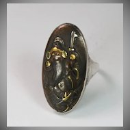 Bold Antique Japanese Shakudo Ring