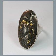 Bold Antique Japanese Shakudo Ring