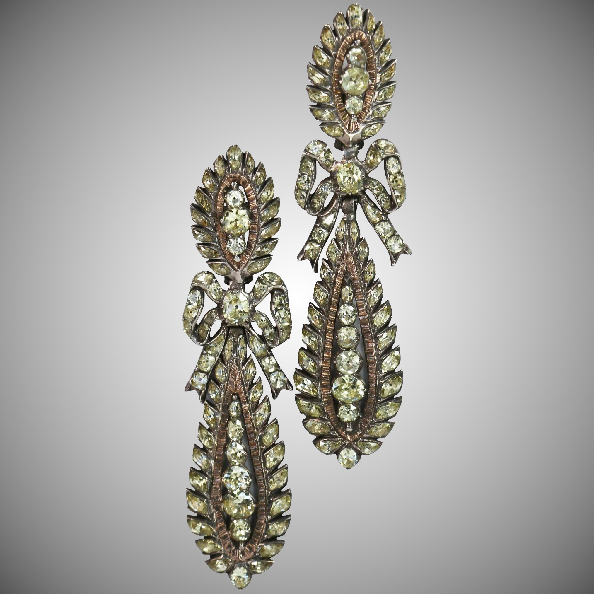 beautiful gold portfolio diamond vintage white goutte antique nosta perle earrings