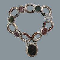 Lovely Antique Scottish Agate Bracelet Dated 1857