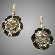 Antique Georgian French Diamond Earrings Circa 1830