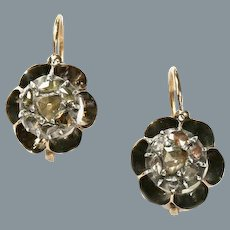 Antique Georgian French Diamond Earrings Circa 1830