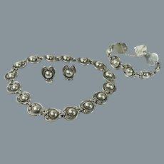 Margot de Taxco Mexican Necklace Bracelet and Earrings