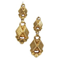 Antique French Earrings 18 Karat Gold