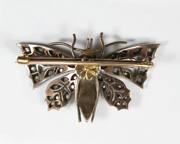 Antique English Diamond Butterfly Pin Third Floor