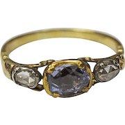 Georgian Sapphire and Diamond Ring
