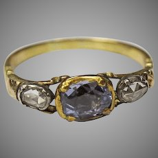 Georgian Sapphire and Diamond Ring