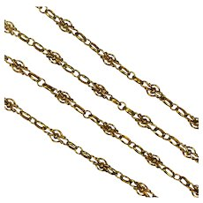Antique French 18 Karat Gold Long Chain