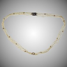 Antique Georgian Seed Pearl Necklace