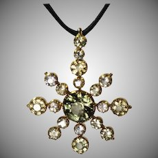 Antique fine jewelry victorian pendants third floor antiques antique victorian gold gemstone star pendant aloadofball Images