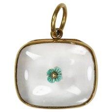 Antique Gold Georgian Crystal Enamel Locket