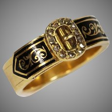Antique Victorian Gold Diamond Buckle Ring