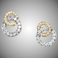 Radiant Diamond Double Ring 4.86 Carats Earrings