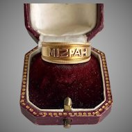 Antique Mizpah Gold Ring Gift of Love