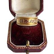 Antique Mizpah Ring 18 karat Gold