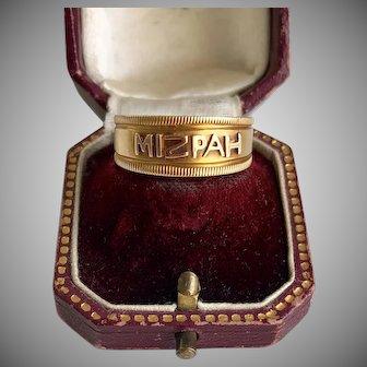 Antique Mizpah Gold Ring Gift of Love
