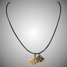 Vintage Gold Charm Necklace Circa 1960