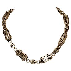 Antique  14 Karat Rose Gold Watch Chain Necklace