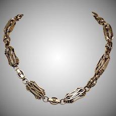 Antique  14 Karat Rose Gold Watch Chain Necklace