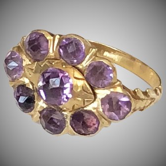 Antique Iberian Amethyst Ring 18th Century