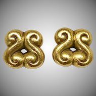 Distinctive Linda Lee Johnson 18 Karat Earrings