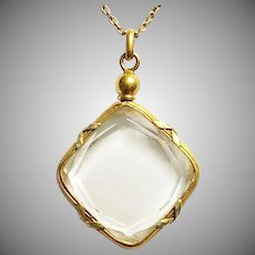 Antique French 18 Karat Gold Locket and Chain