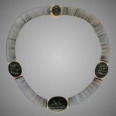 Rare Berlin Iron and Gold Neo-Classical Necklace Circa 1820