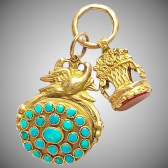 Antique French Gold Fobs Circa 1819