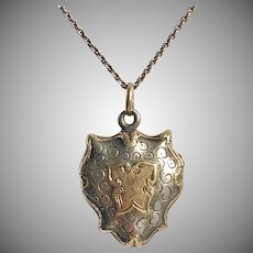 Petite Antique French Silver Vermeil Locket Circa 1840