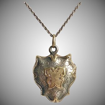 Petite Antique French Silver Vermeil Locket Circa 1840