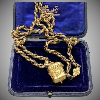Antique Georgian Pinchbeck Necklace and Pendant