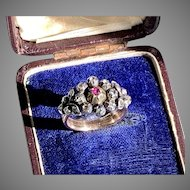 Rare OPENING Antique French Diamond Seven Day Ring