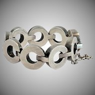Iconic Antonio Pineda Taxco Silver Bracelet Signed
