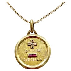 Sentimental French Gold Love Pendant
