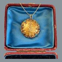 Antique Georgian Gold Gemstone Pendant , circa 1830