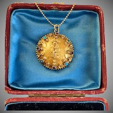 Antique Georgian Gold Gemstone Pendant , circa 1830