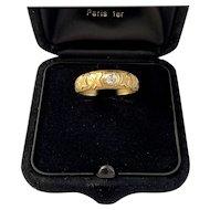 Antique French Diamond Symbolic Ring Circa 1900