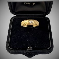 Antique French Diamond Symbolic Ring Circa 1900