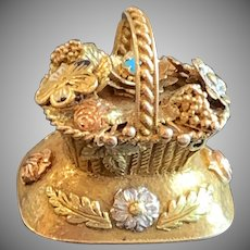 Unique Georgian Love Token Basket  Circa 1830