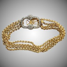 Antique Georgian Gold Diamond Bracelet