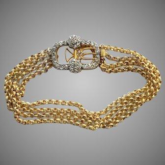 Antique Georgian Gold Diamond Bracelet