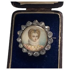 Extraordinary Portrait Miniature of an Elizabethan Woman